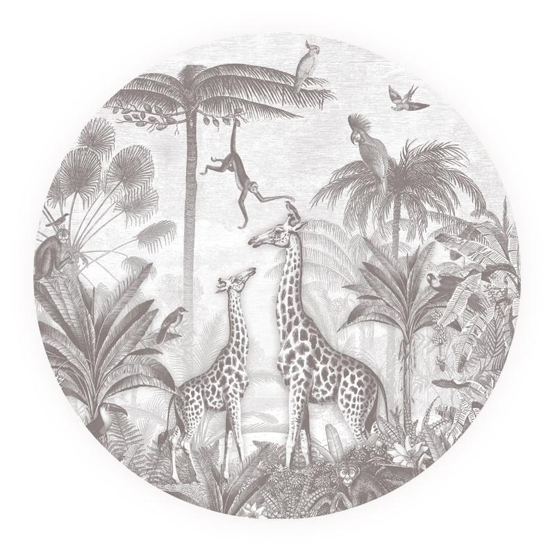 Giraf en slingeraapjes - keuze uit 7 kleuren