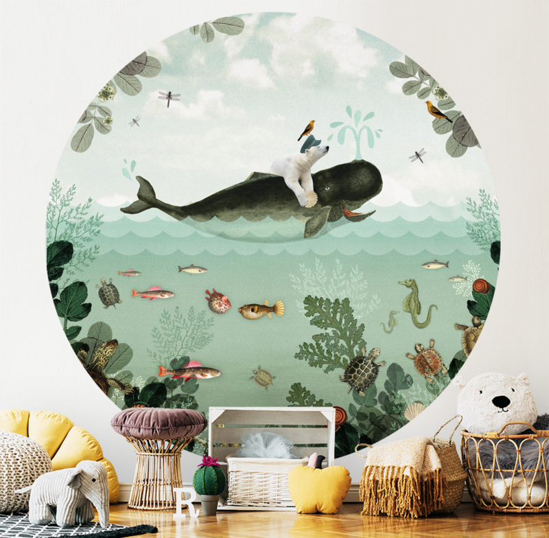 Walvis & IJsbeer behangcirkel