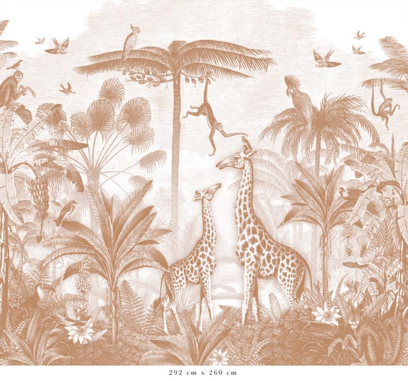 Giraf & slingeraapjes | terracotta
