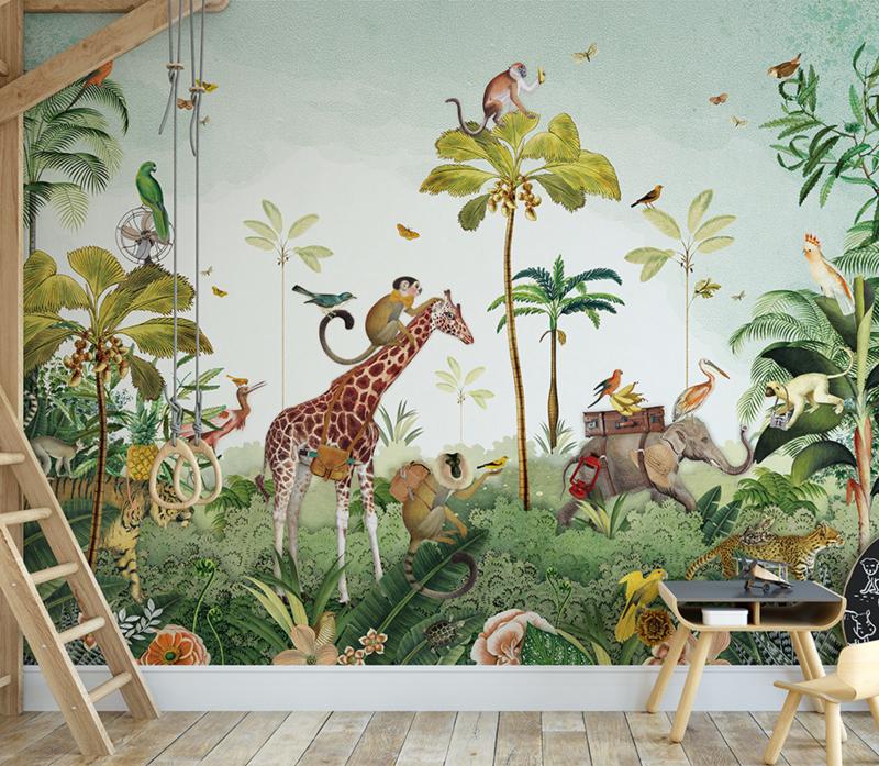 Jungle parade voor Willem   393b x 230h cm