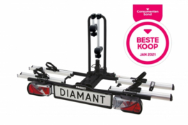 De Diamant is een veilige en betrouwbare fietsendrager voor het transport van 2 fietsen.