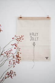 Stitched Art 'Holly Jolly'