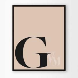 Poster Letter G