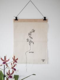 Stitched Art 'Aquilegia'