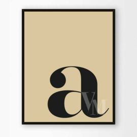 Poster Letter A