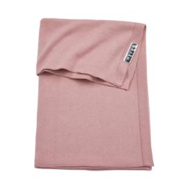 Knit Basic Oud Roze Wiegdeken