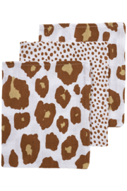 Hydrofiel washandjes 3-pack | Panter Cheetah Camel  |