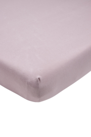 Jersey Hoeslaken Ledikant I Lilac