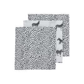 Hydrofiel Luiers 3-pack | Zebra Animal Cheeta Black |