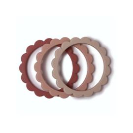 Flower Bijtring Armbanden Blush/Rose/Shifting Sand