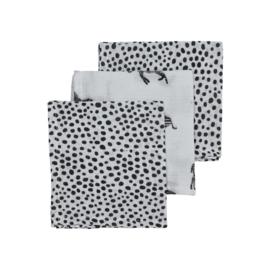 Hydrofiel Monddoekjes 3-pack I  Zebra Animal Cheeta Black I