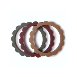 Flower Bijtring Armbanden Dried Thyme/Natural/Berry