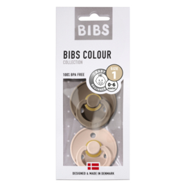 BiBS Speen Dark Oak/Blush - 0-6 mnd