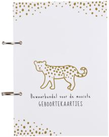 Geboortekaartjesbundel Cheetah Honey Gold