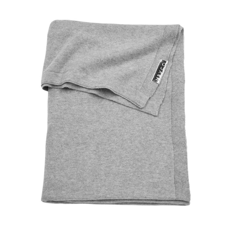 Knit Basic Grey Melange Wiegdeken