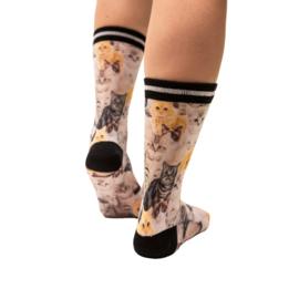 Sock my feet my cats