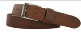 Runder  lederen riem brown