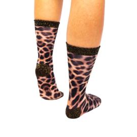 Sock my feet leopard