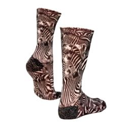 Sock my feet striped zebra