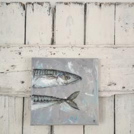 """Olieverf op klein doek """"Fish"""""""
