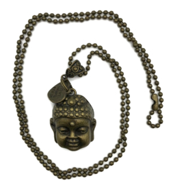 Boho ketting - Buddha - brons