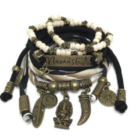 Set Namaste - Ganesha - zwart en print