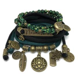 Set Namaste - Lotus Flowers - groen en zwart
