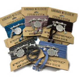 Wikkelarmband - Stichting dogs by Merlyn