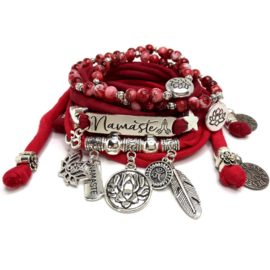 Set Namaste - Lotus Flower - rood