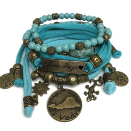 Set Love Ibiza - Es Vedra coin - Turquoise blauw