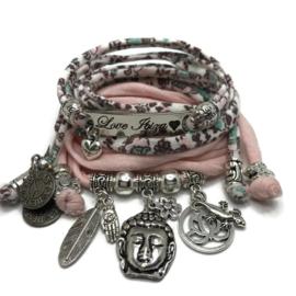 Set Love Ibiza - Buddha Ibiza - Bloemen print en vintage roze