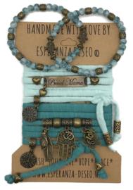 Set Proud Mama - Hamsa - Munt en vintage mint