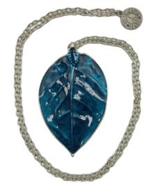 Boho ketting - Leaf - zilver