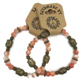 Natuursteen armbandje roze agaat - maat s/m