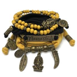 Set Namaste - Ganesha - okergeel en zwart