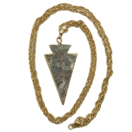 Boho ketting - triangle -  goud