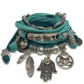 Set Love Ibiza - Hamsa - zeegroen en turquoise groen