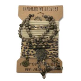 Set Love Ibiza -  Benirras coin - panterprint met zand
