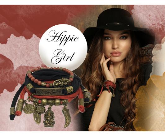 Hippie Girl wikkelarmbanden