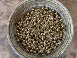 Acryl spacer kraal goud