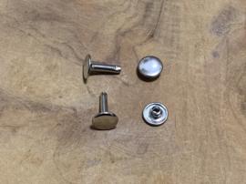 Holnieten zilverkleurig Ø 10mm - 13mm