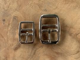 Halsband gesp chroom 'rond'