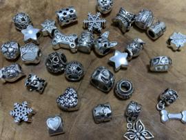Kralen-mix zilver