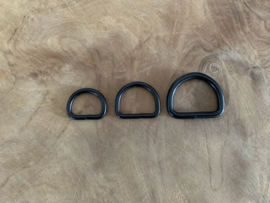 D-ring mat zwart