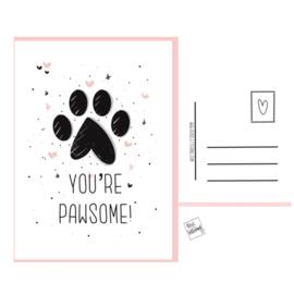 Pawsome postkaartje