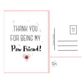 Paw Friend postkaartje