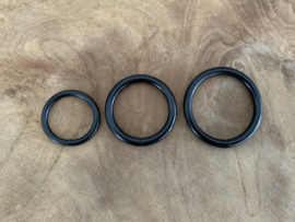 O-ring mat zwart