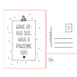 Pawsome day postkaartje