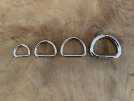 D-ring zilverkleurig