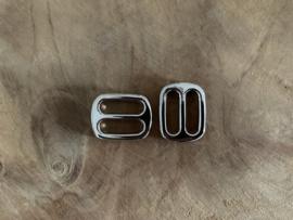 Dubbele loops zilverkleurig